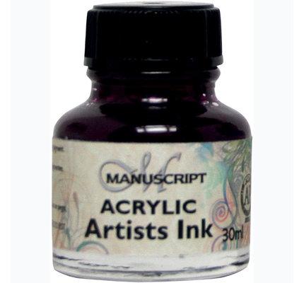 Manuscript Manuscript Acrylic Artist's Ink - Purple Lake 30 ml