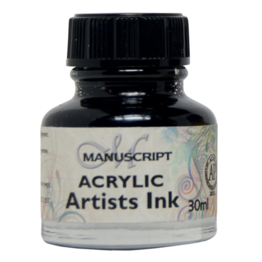 Manuscript Manuscript Acrylic Artist's Ink - Indian Black 30 ml