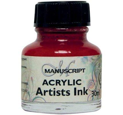 Manuscript Manuscript Acrylic Artist's Ink - Crimson 30 ml