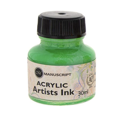 Manuscript Manuscript Acrylic Artists Ink Green