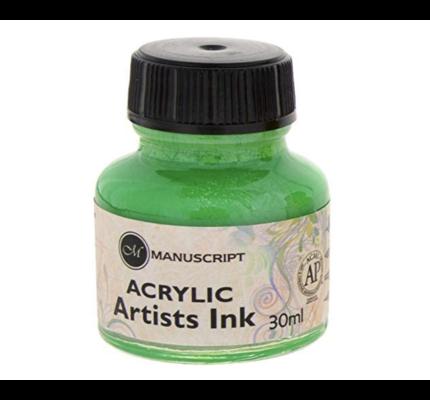 Manuscript Manuscript Acrylic Artists Ink Green
