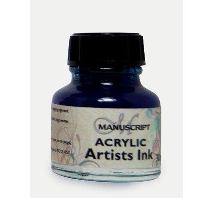 Manuscript Manuscript Acrylic Artist's Ink - Ocean Blue 30 ml