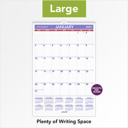 "At-A-Glance 2021 Monthly Wall Calendar 15.5"" x 2.1"" x . 3.32"" Black"