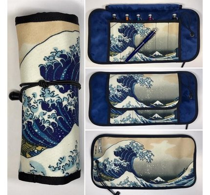 Rickshaw 8-Pen Great Wave Graphic Pen Roll