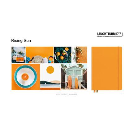 Leuchtturm1917 Leuchtturm1917 A5 Medium Rising Colors Softcover Notebook Rising Sun Plain
