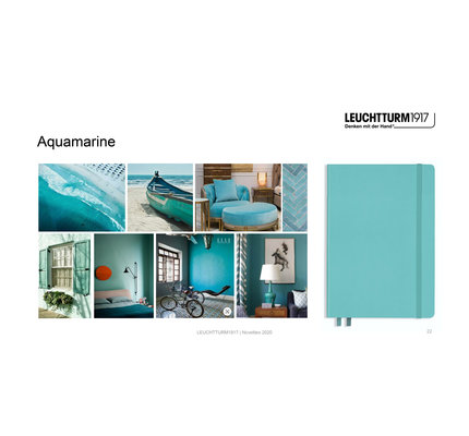 Leuchtturm1917 Leuchtturm1917 A5 Medium Rising Colors Softcover Notebook Aquamarine Ruled