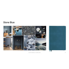 Leuchtturm1917 Leuchtturm1917 A5 Medium Rising Colors Softcover Notebook Stone Blue Ruled