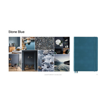 Leuchtturm1917 Leuchtturm1917 A5 Medium Rising Colors Softcover Notebook Stone Blue Dotted