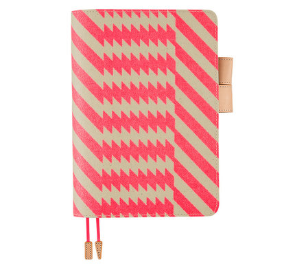 Hobonichi Hobonichi A5 Cousin 2021 Agenda mintdesigns: Zig-Zag (Pink)