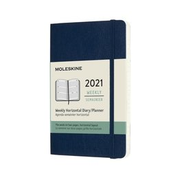 Moleskine Moleskine 2021 Pocket Weekly Horizontal 12-Month Sapphire Blue Diary/Planner