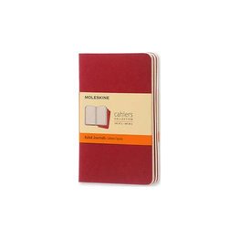 Moleskine Moleskine Cahier Pocket Ruled Red Cover 3  Pack