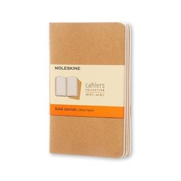 Moleskine Moleskine Cahier Collection Pocket Softcover Journal Kraft Brown