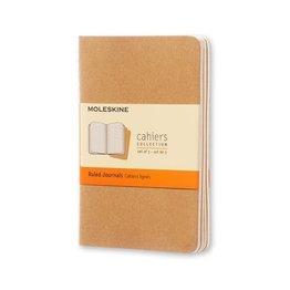 Moleskine Moleskine Cahier Collection Pocket Softcover Journal Kraft Brown