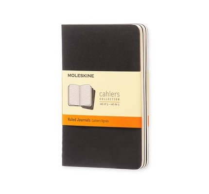 Moleskine Moleskine Cahier Collection Pocket Softcover Journal Black