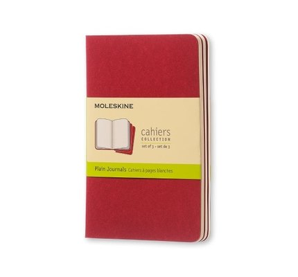 Moleskine Moleskine Cahier Collection Pocket Softcover Journal Red
