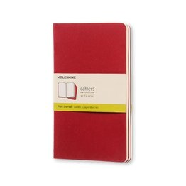 Moleskine Moleskine Cahier Collection Large Softcover Journal Cranberry Red
