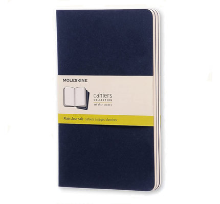 Moleskine Moleskine Cahier Collection Large Softcover Journal Indigo Blue