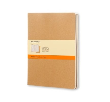 Moleskine Moleskine Cahier Collection X-Large Softcover Journal Kraft Brown