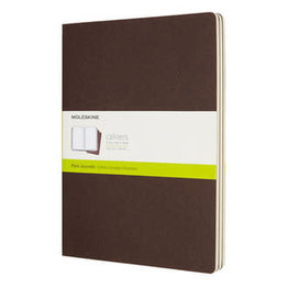 Moleskine Moleskine Cahier Collection X-Large Softcover Journal Coffee Brown