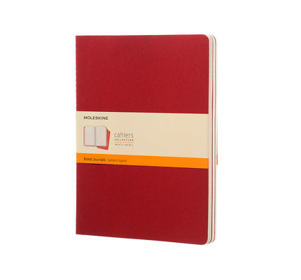 Moleskine Moleskine Cahier Collection X-Large Softcover Journal Red