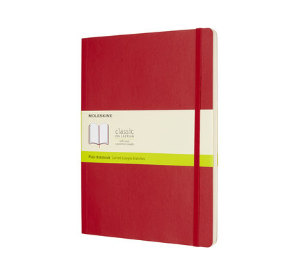 Moleskine Moleskine Classic Colored X-Large Softcover Notebook Scarlet Red