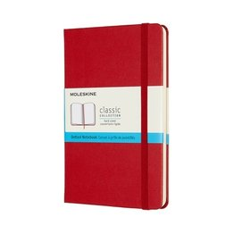 Moleskine Moleskine Classic Colored Pocket Softcover Notebook Scarlet Red