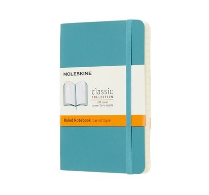 Moleskine Moleskine Classic Colored Pocket Softcover Notebook Reef Blue