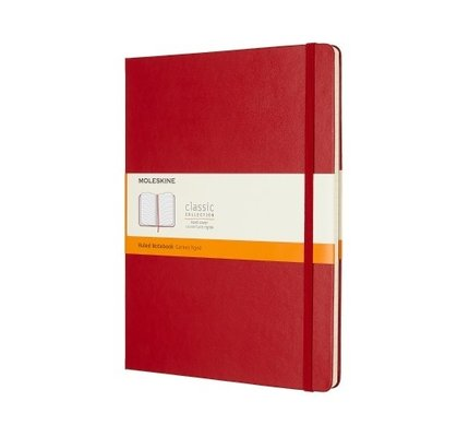 Moleskine Moleskine Classic Colored X-Large Hardcover Notebook Scarlet Red