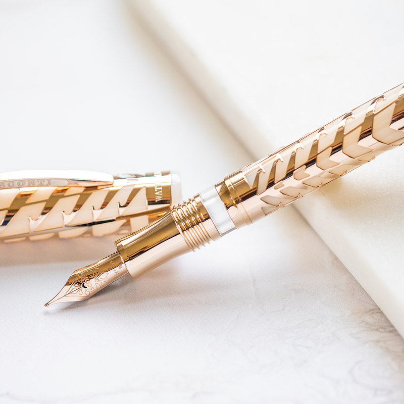 Visconti Visconti Special Edition Watermark Ivory and Rose Fountain Pen