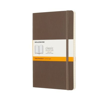 Moleskine Moleskine Classic Colored Large Hardcover Notebook Earth Brown