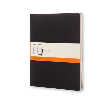Moleskine Moleskine Cahier Collection XX-Large Softcover Black Ruled Pack of 3