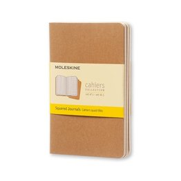 Moleskine Moleskine Cahier Collection Large Softcover Journal Kraft Brown