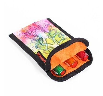 Rickshaw 3-Pen Coozy Inktopus Orange Pen Sleeve