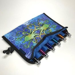 Rickshaw 6-Pen Inktopus Blue Pen Roll