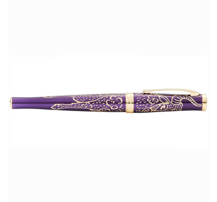 Cross Cross Sauvage Engraved Plum Lacquer Year of the Ox Rollerball Pen
