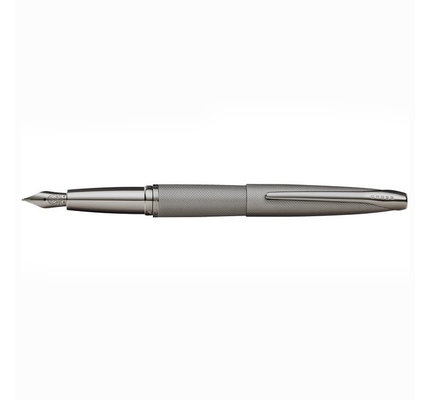 Cross Cross ATX Sandblasted Titanium Gray Fountain Pen with Polished Titanium Gray PVD Appointments