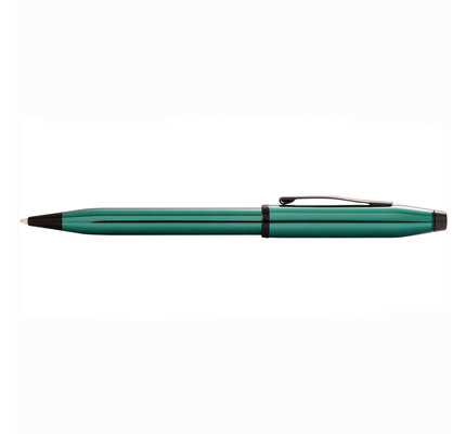 Cross Cross Century II Translucent Green Lacquer Ballpoint Pen with Polished Black PVD Appointments