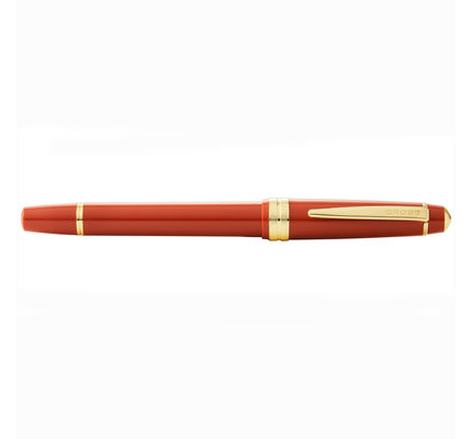 Cross Cross Bailey Light Glossy Burnt Orange Resin Fountain Pen with Gold Tone Appointments