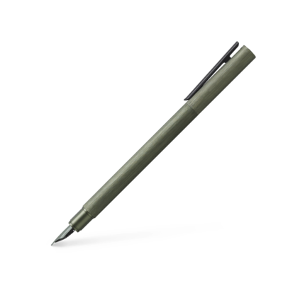 Faber-Castell Faber-Castell Neo Slim Aluminum Olive Green Fountain Pen