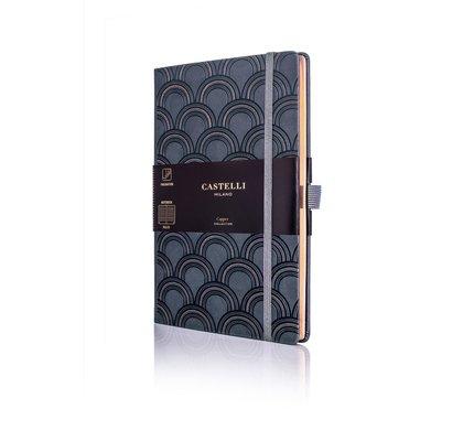 Castelli Castelli A5 Notebook Copper And Gold Art Deco Copper Blank