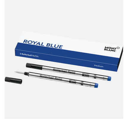 Montblanc Montblanc Rollerball Refill Royal Blue Medium 2 Pack (Replacement for Pacific Blue 08/19)