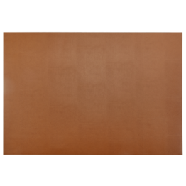 "Graphic Image Graphic Image Double Sided Leather Tan and Navy Desk Blotter (18""x26"")"