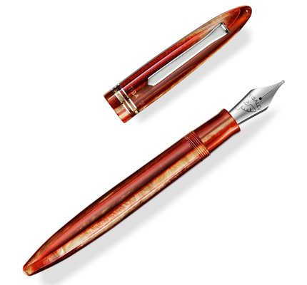 Tibaldi Bononia Seashell Mist with Palladium Trim Fountain Pen