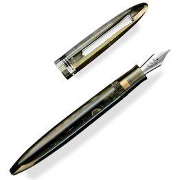 Tibaldi Bononia Martini Olive with Palladium Trim Fountain Pen