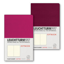 Leuchtturm1917 Leuchtturm1917 Jottbook Double A6 Pocket Flexcover Berry & Port Red Dotted