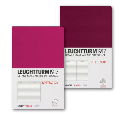 Leuchtturm1917 Leuchtturm1917 Jottbook Double A6 Pocket Flexcover Berry & Port Red Ruled