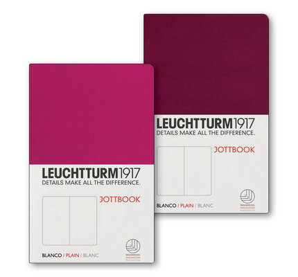 Leuchtturm1917 Leuchtturm1917 Jottbook Double A6 Pocket Flexcover Berry & Port Red Plain