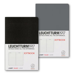 Leuchtturm1917 Leuchtturm1917 Jottbook Double A6 Pocket Flexcover Anthracite & Black Ruled