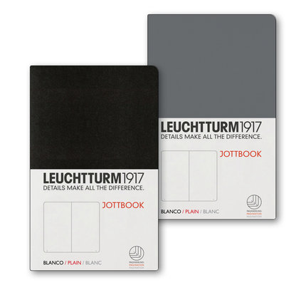 Leuchtturm1917 Leuchtturm1917 Jottbook Double A6 Pocket Flexcover Anthracite & Black Plain
