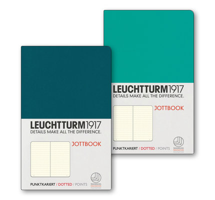Leuchtturm1917 Leuchtturm1917 Jottbook Double A6 Pocket Flexcover Emerald & Pacific Green Dotted